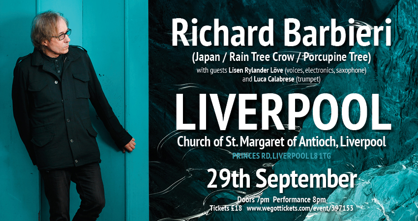 Richard Barbieri in Liverpool Sept 29th